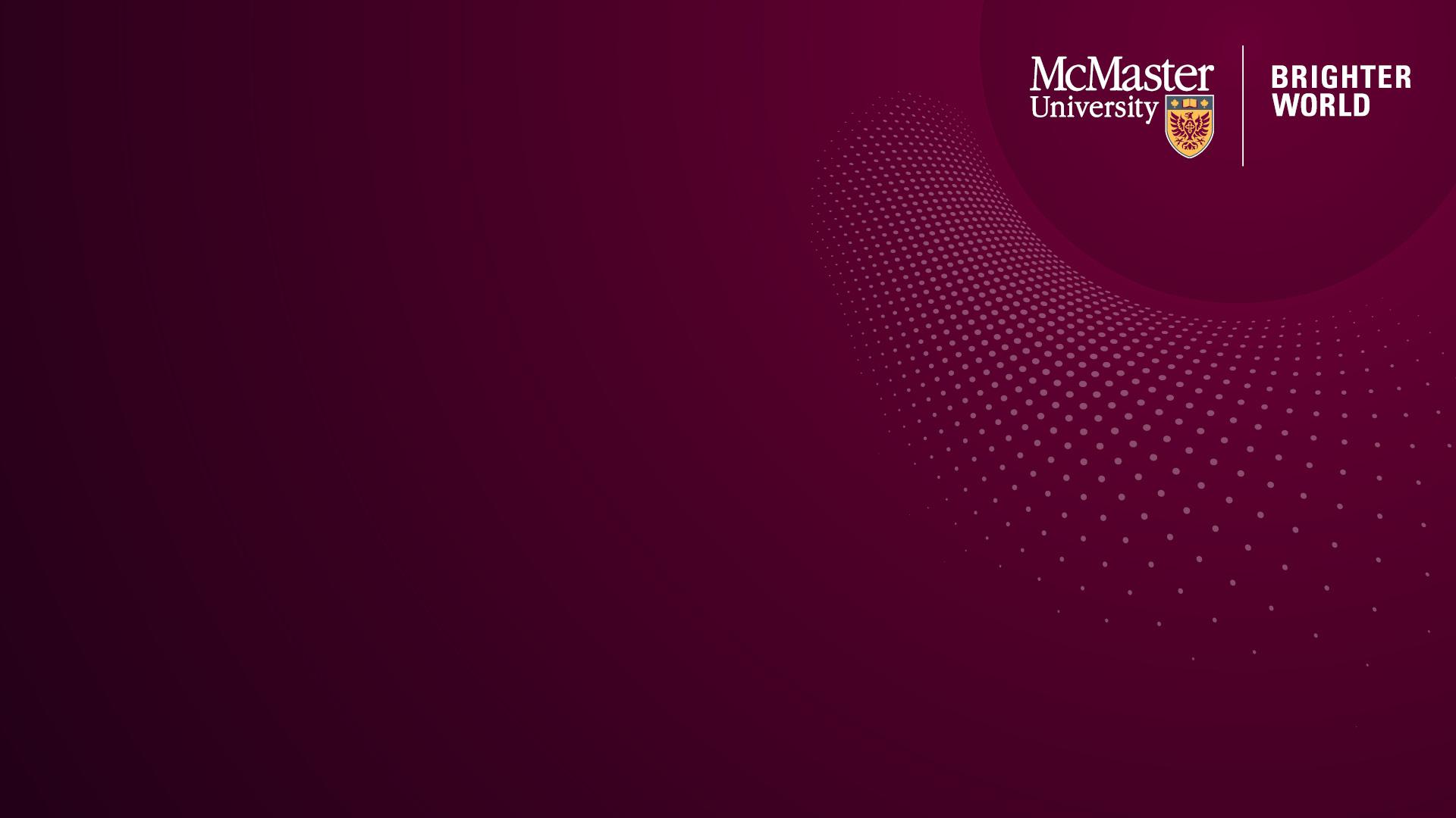 Maroon McMaster Branded Zoom Background