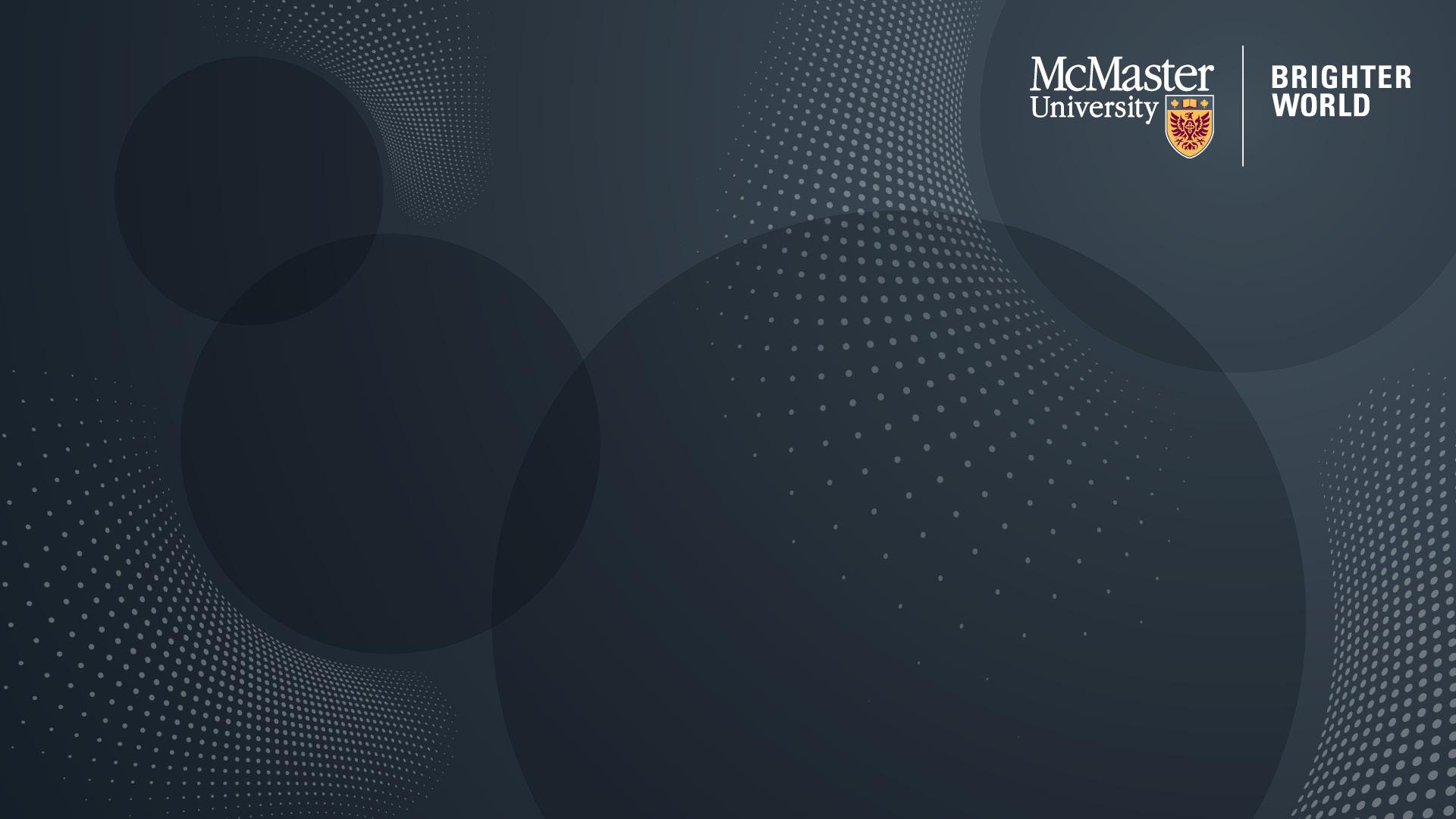 Black on Black McMaster Branded Zoom Background